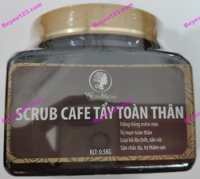 Cafe tắm , tẩy tế bào chết toàn thân Wonmom 100% thiên nhiên 500g (thay cho sữa tắm hóa chất) Việt Nam