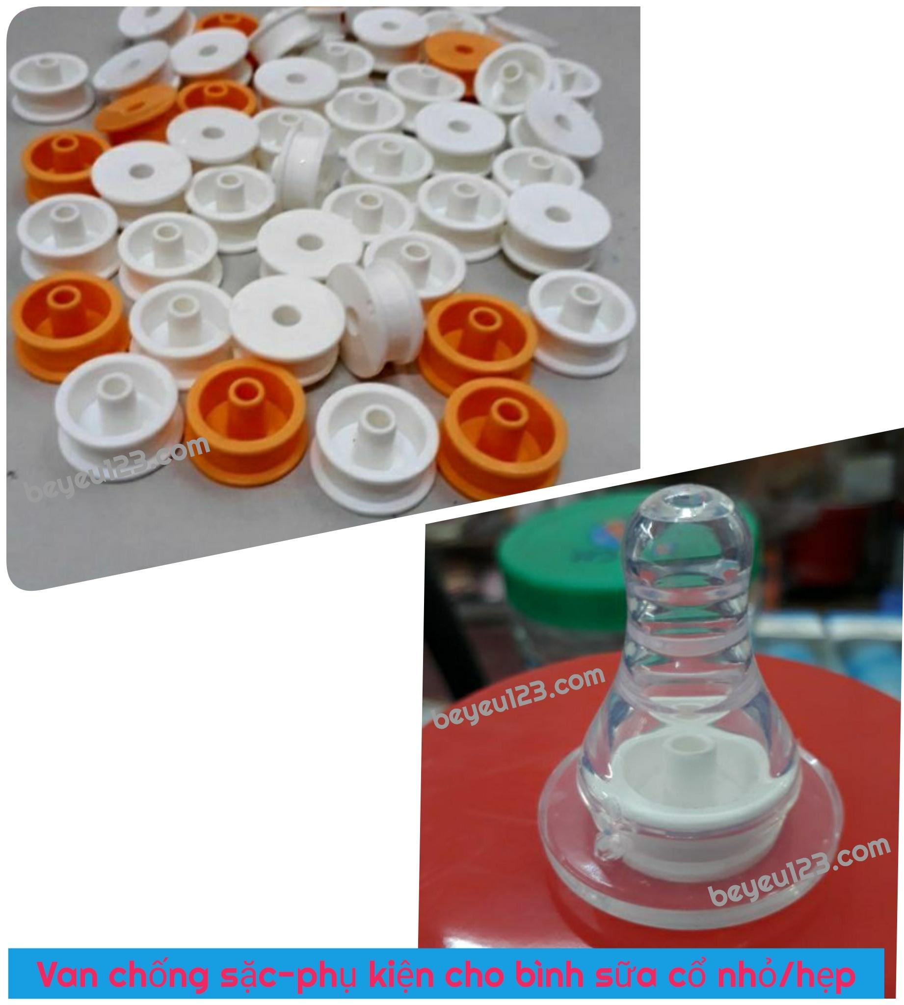 Van chống sặc - phụ kiện bình sữa cổ hẹp/nhỏ (60-90-120-240ml)