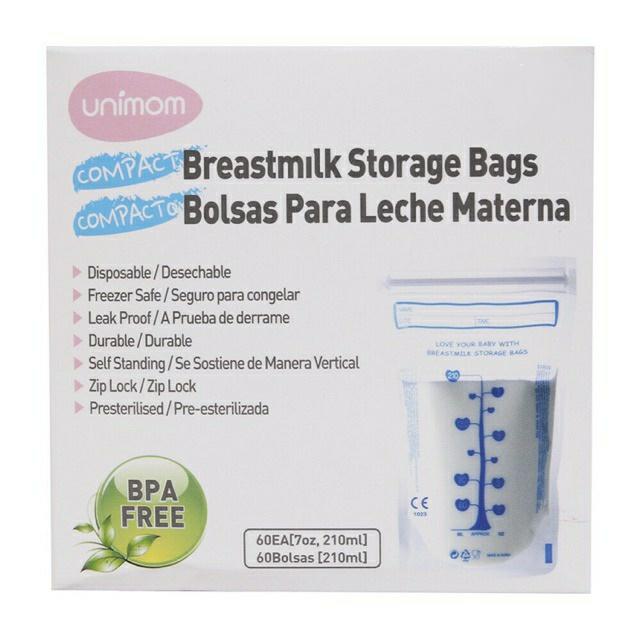 Hộp 60 Túi đựng trữ sữa mẹ 210ml UNIMOM Compact Hàn Quốc