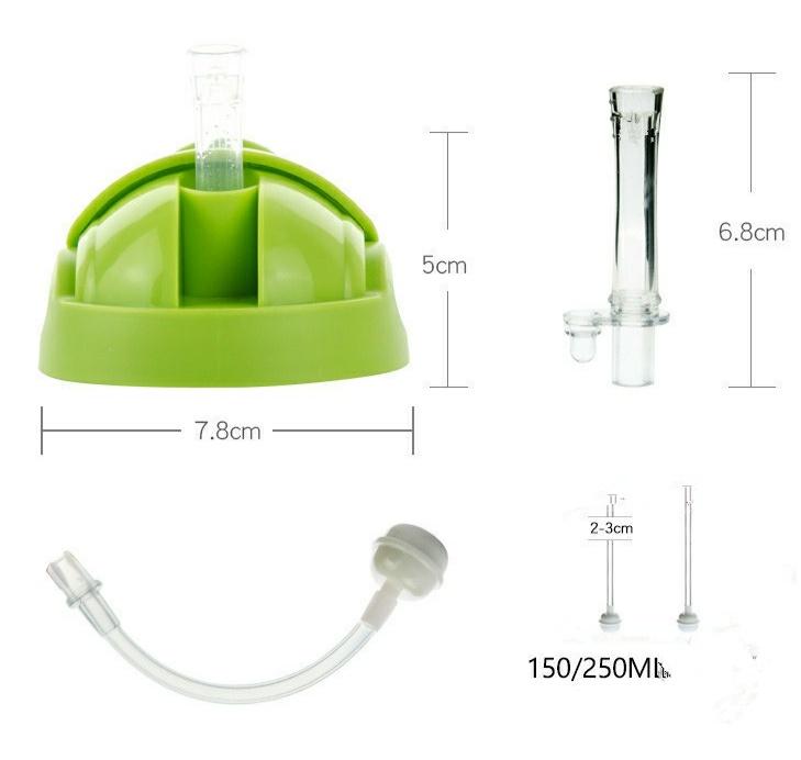 Đầu nắp ống hút nước chống sặc Comotomo 150ML/250ML - phụ kiện thay thế bình sữa Kichilachi