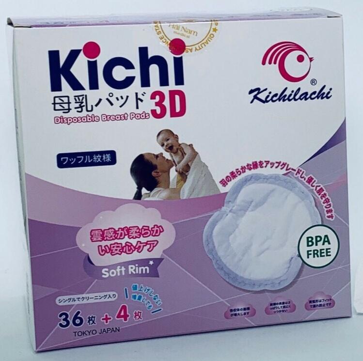 Hộp 40 Miếng lót thấm sữa mẹ dùng 1 lần KICHILACHI (Nhật)