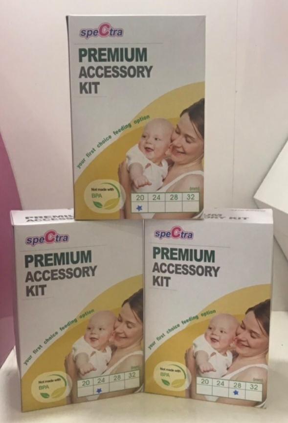 Bộ phụ kiện hút sữa Spectra Premium cổ rộng - kèm núm ti bú size S cho bé - Hàn Quốc