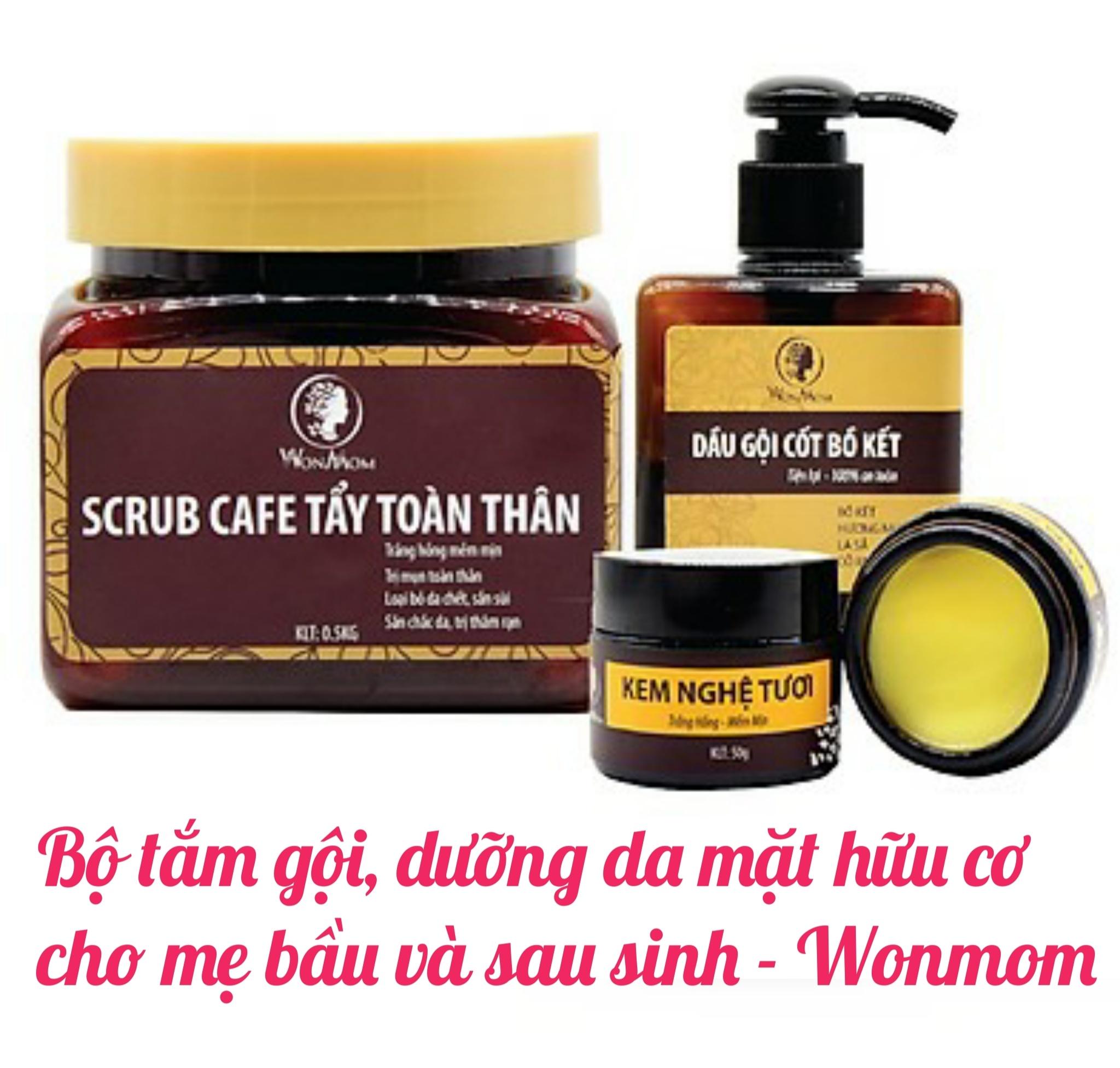 Bộ tắm gội , dưỡng da mặt hữu cơ cho mẹ bầu và sau sinh Wonmom - Việt Nam