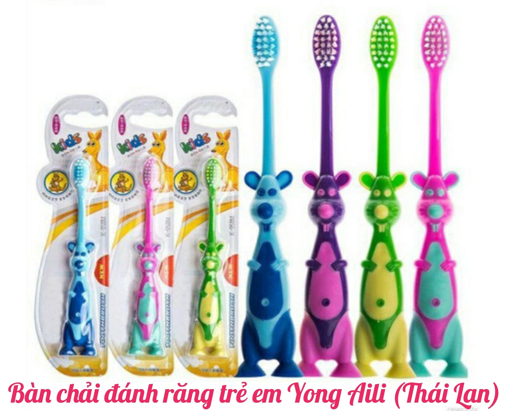 Bàn chải đánh răng trẻ em hình thú Yong AIli - Thái Lan