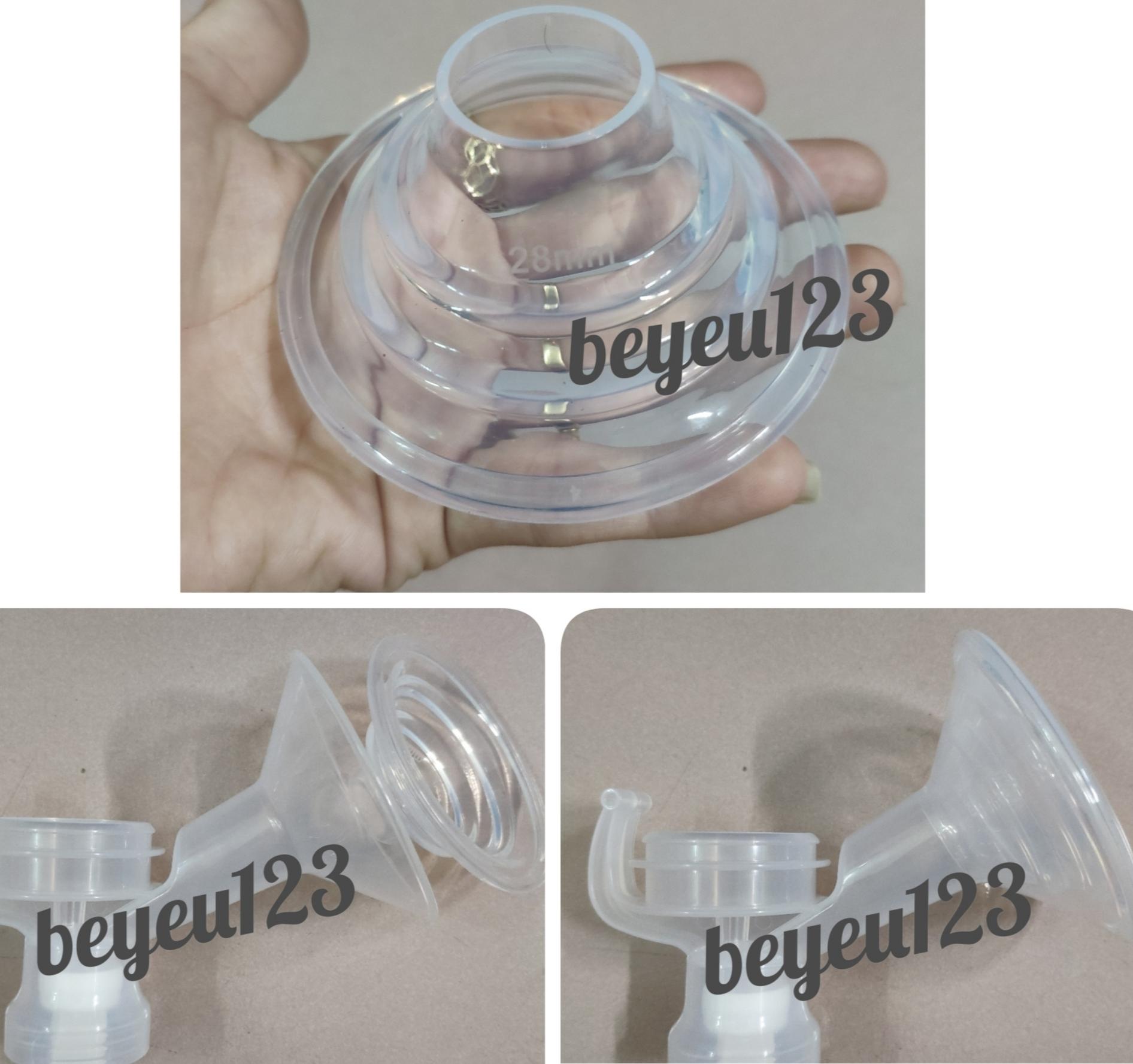Size L 27mm- Phễu nhựa cứng Unimom kèm Matxa silicone phụ kiện hút sữa