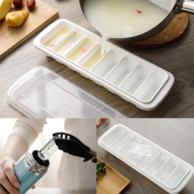 Khay đá 8 thanh có nắp đậy Inomata - Ice Tray - Made in Japan - KBN 503163