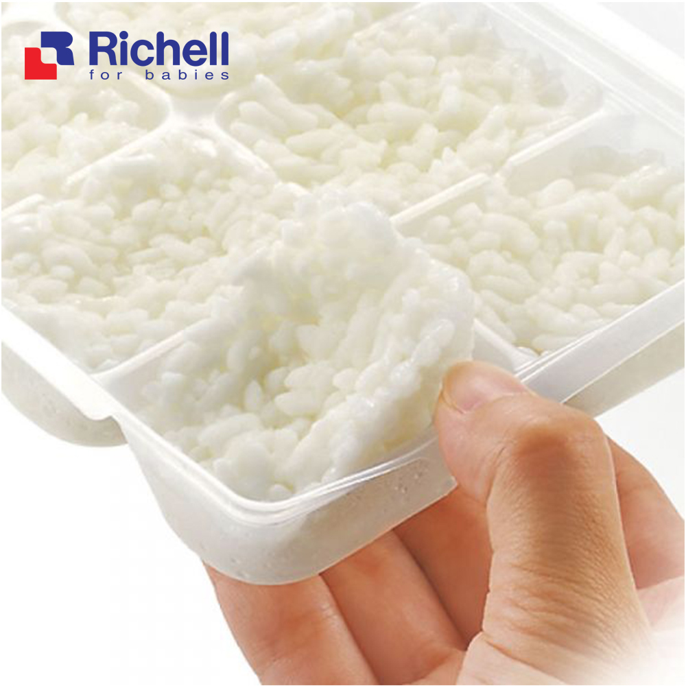 2 Khay trữ đông thức ăn kèm nắp đậy Richell - Nhật (Chính hãng cty Ánh Dương)