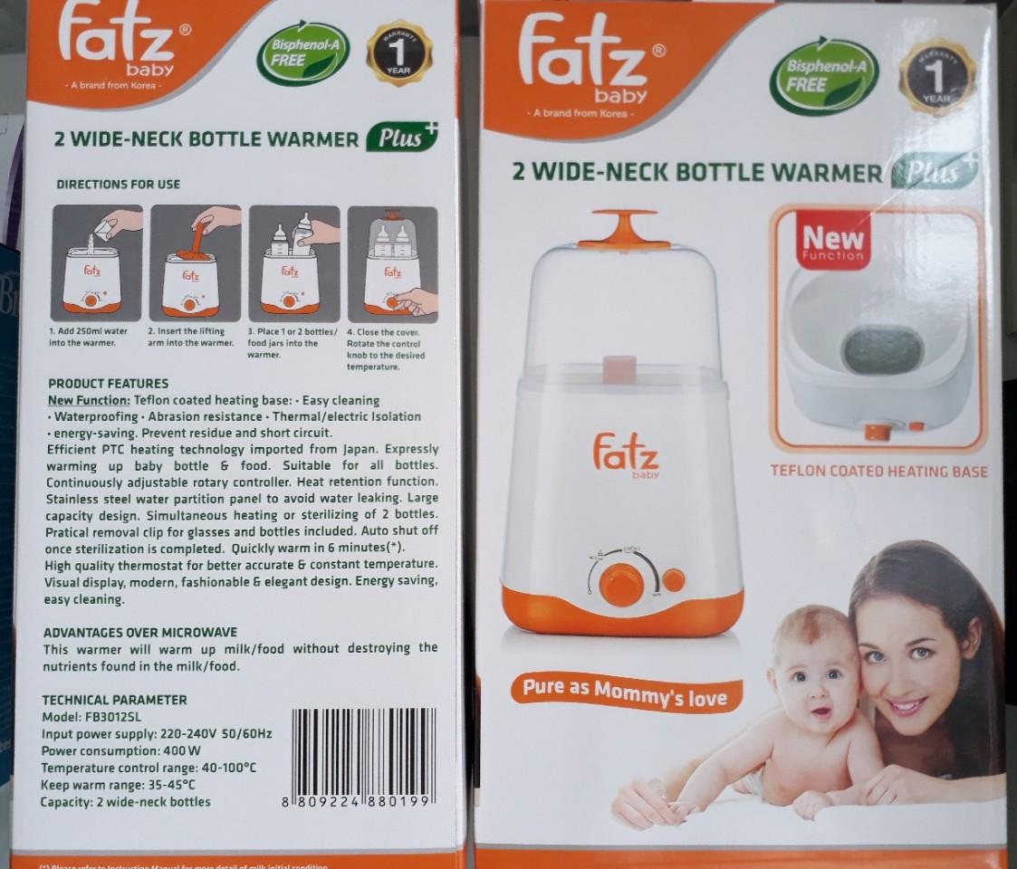 Máy hâm sữa và thức ăn 2 bình đa năng thế hệ mới Fatzbaby FB3012SL