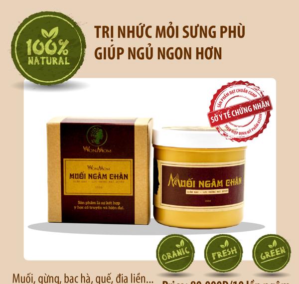 Muối ngâm chân trị đau nhức, phù chân Wonmom 350Gram - An toàn cho Mẹ mang thai và sau sinh (Việt Nam)