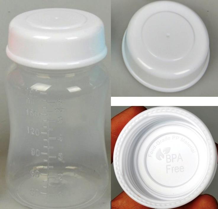 2 Nắp tròn xoay trắng trữ sữa mẹ phụ kiện cho bình cổ rộng AVENT, SPECTRA, WESSER, ROZABI