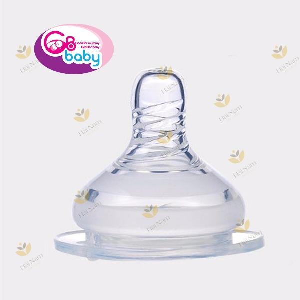 Vỉ 2 núm ti silicone mềm cổ rộng GB BABY - phụ kiện bình sữa Hàn Quốc