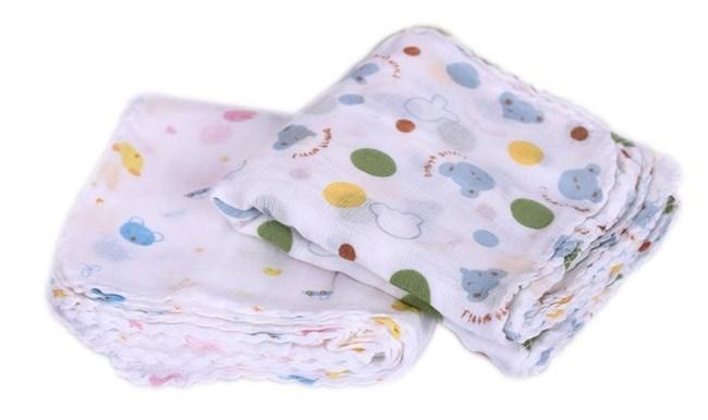 Set 10 Khăn sữa in hình xuất Nhật cao cấp cho bé -kích thước 1 khăn 32x32cm