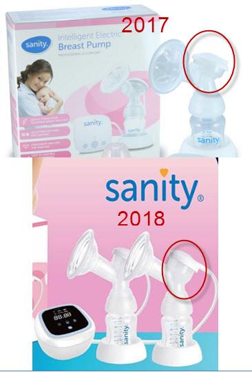 Cuống silicone Sanity Phụ kiện cho máy hút sữa điện đơn, đôi - mẫu mới 2018