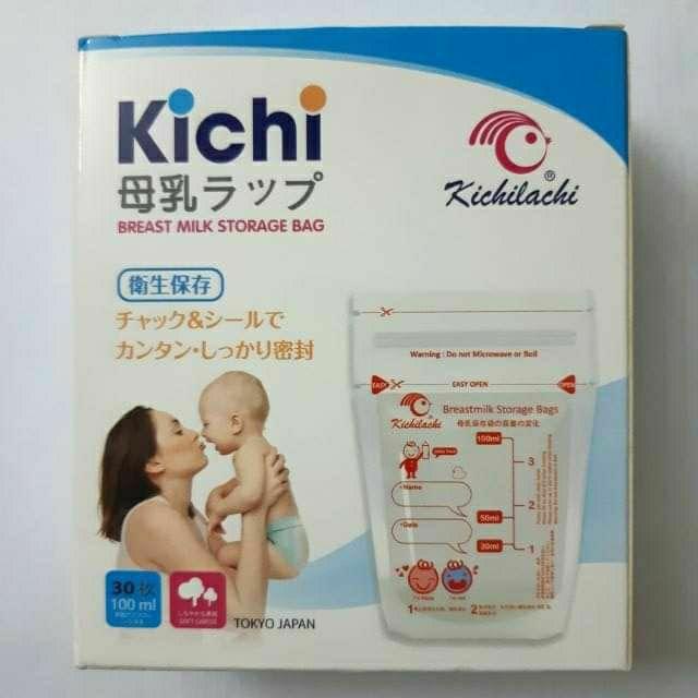 Hộp 30 túi trữ sữa mẹ 100ml không BPA Kichilachi - K30