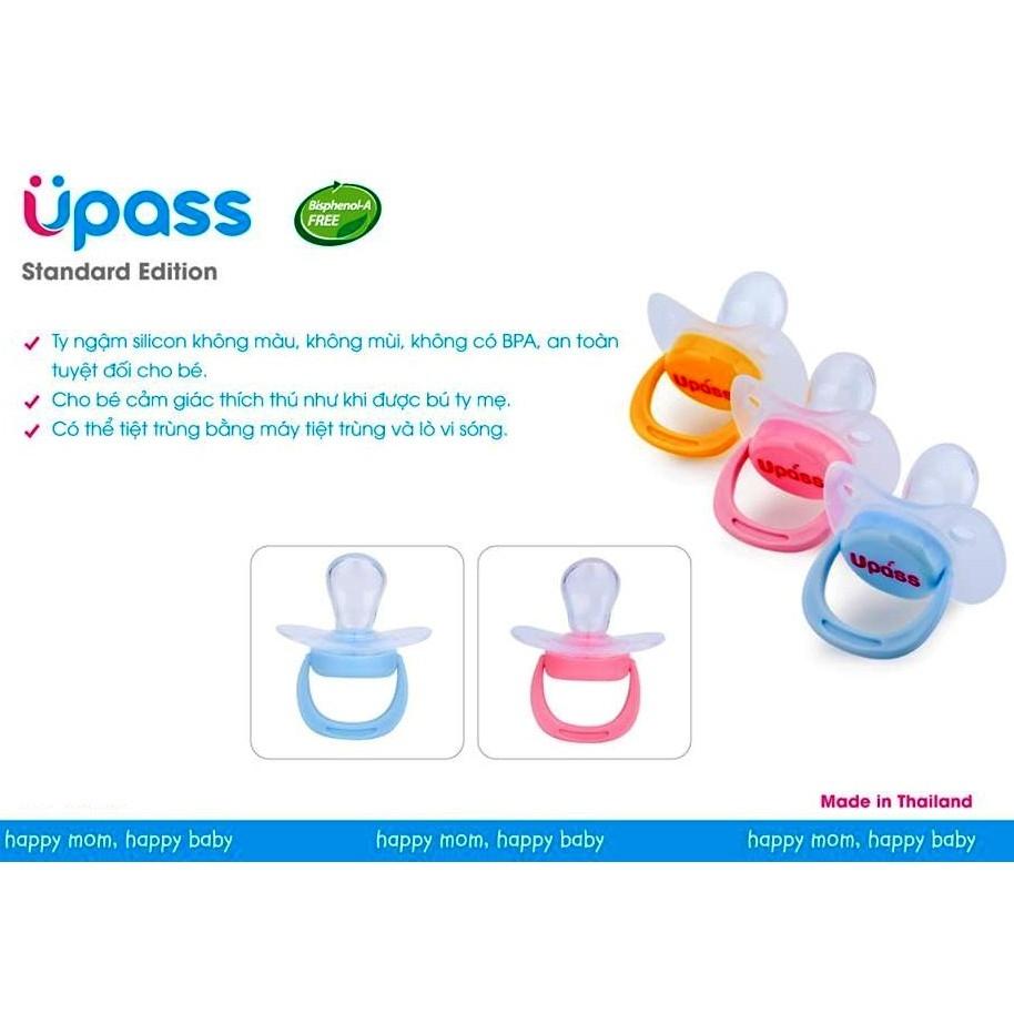 UPASS (Thái Lan) - Vỉ 02 cái ti ngậm cho bé không BPA Upass UP0282N