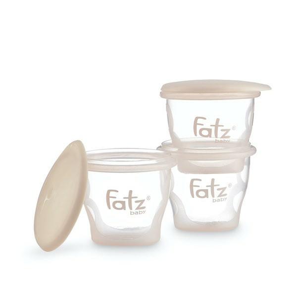 Bộ 3 cốc trữ sữa và thức ăn 85ml Fatz Fatzbaby FB0010N - Made in Thailand