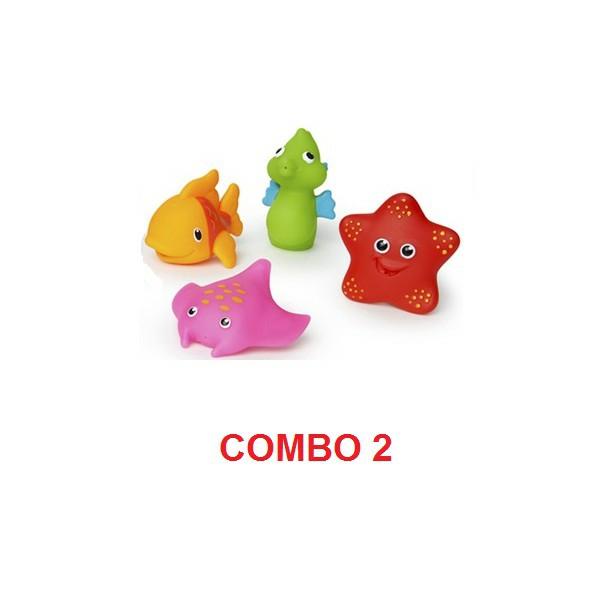 Bộ 4 sinh vật biển đồ chơi nhà tắm an toàn cho bé Munchkin - MK31205