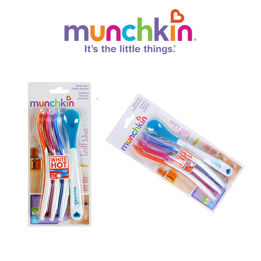 Thìa mềm ăn dặm báo nóng an toàn miệng cho bé Munchkin
