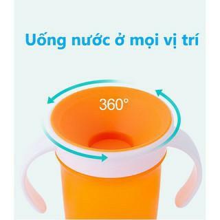 Cốc tập uống / Ly uống nước 360 độ có tay cầm Upass Thái Lan - UP0337N