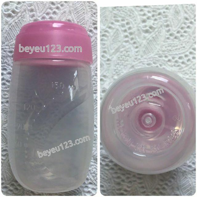 Bộ 3 bình trữ sữa mẹ Unimom 150ml có núm ti Size S Hàn Quốc