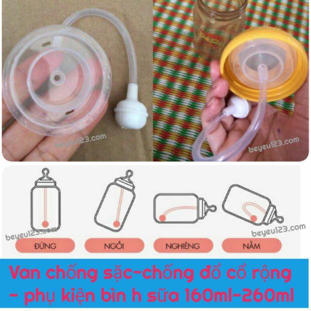 Van chống sặc PIGEON - chống đổ cổ rộng- phụ kiện bình sữa 160ml-260ml