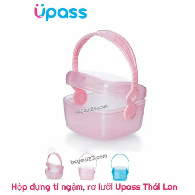 Hộp đựng ti ngậm, rơ lưỡi có quai Upass Thái Lan - UP4276N
