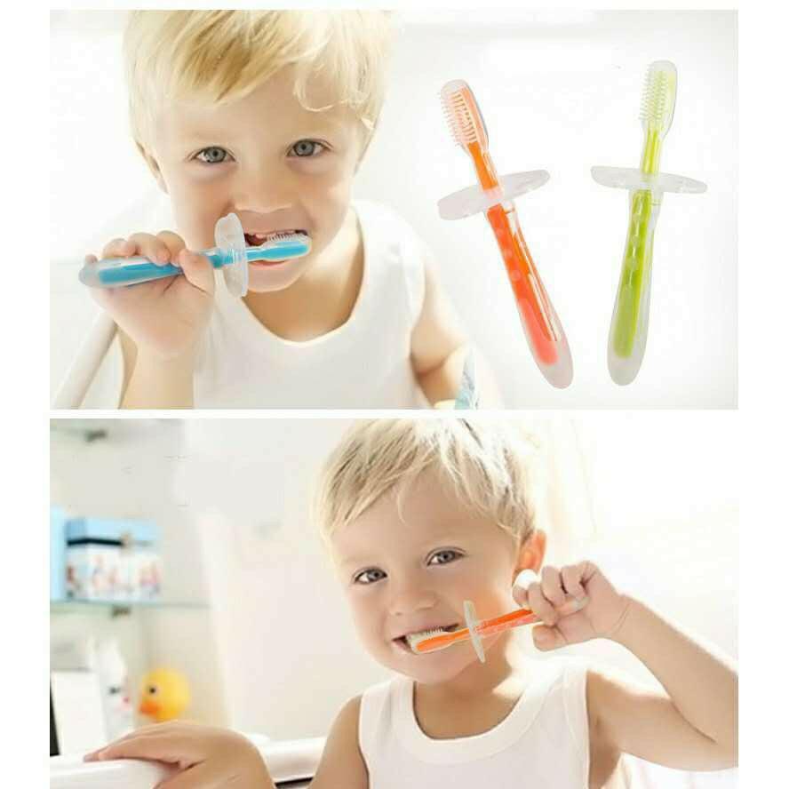 Bàn chải đánh răng , nướu silicone mềm GB Baby an toàn cho bé