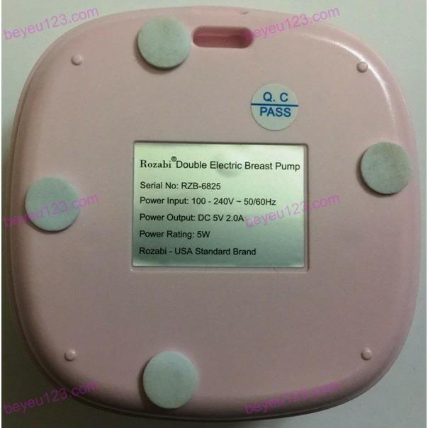 Máy hút sữa điện đôi 9 cấp độ kèm củ sạc Rozabi Compact