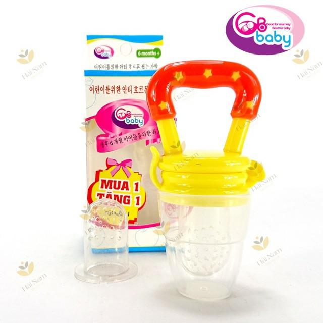 (Tặng kèm 1 ti nhai) Hộp Túi nhai silicone ăn dặm chống hóc GB Baby (Hàn Quốc) (Ko dây kẹp)