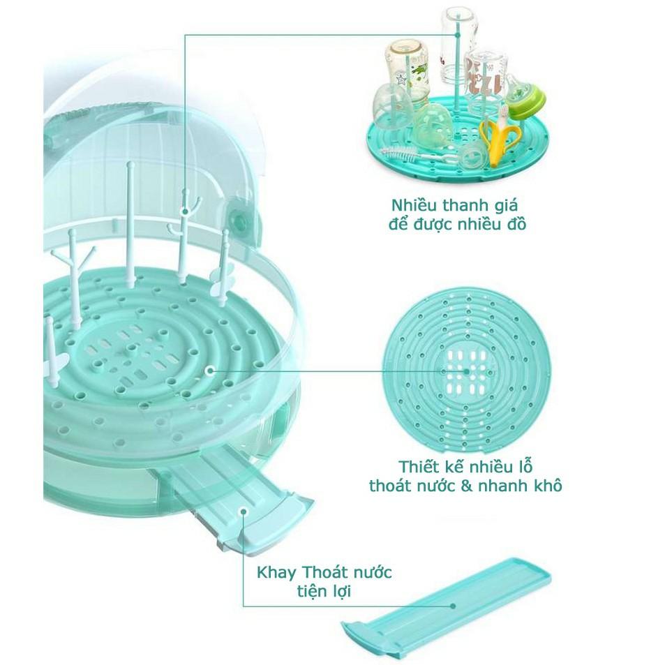 Khay giá úp bình sữa cao cấp Kichilachi - Công nghệ Nhật