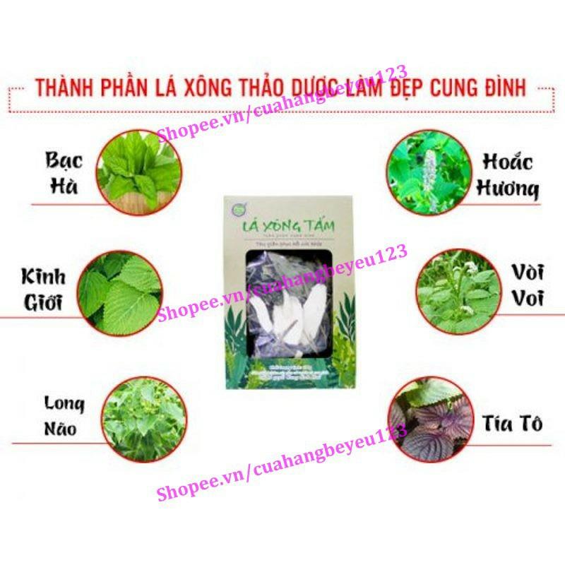 [100gr] Lá xông thảo dược Cung Đình - giải độc cơ thể, phục hồi sức khỏe, thư giãn tinh thần - Bảo nhiên (Việt Nam)