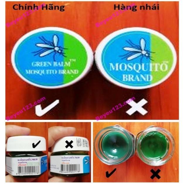 Dầu bôi trị muỗi đốt, côn trùng cắn cho bé Green Blam Mosquito Brand (Made in Thái Lan)