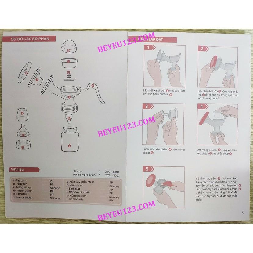 Máy hút sữa bằng tay có maxa silicon Handy 1 - FATZ FATZBABY FB1007SL - Trung Quốc
