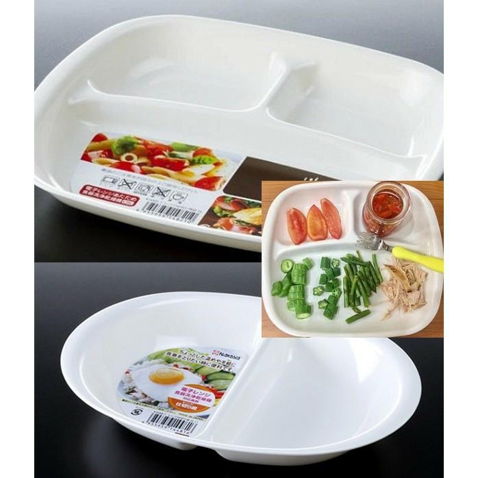 Khay ăn dặm chia 2 / 3 ngăn cho bé Nakaya Nhật Bản - Made in Japan - KBN 44816 / 148210