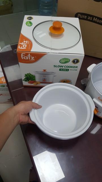 Lòng nồi sứ 1.5L Fatzbaby thay thế cho nồi nấu chậm Fatz