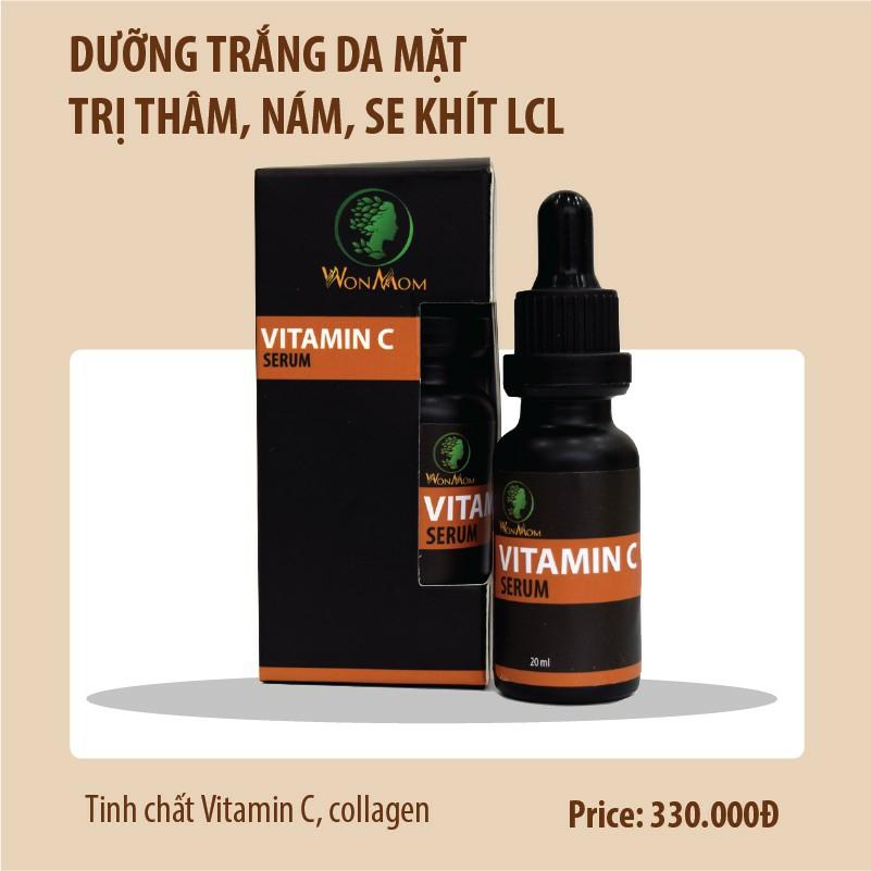 Serum vitamin C dưỡng trắng da mặt, trị thâm, nám Wonmom 20ml - Việt Nam