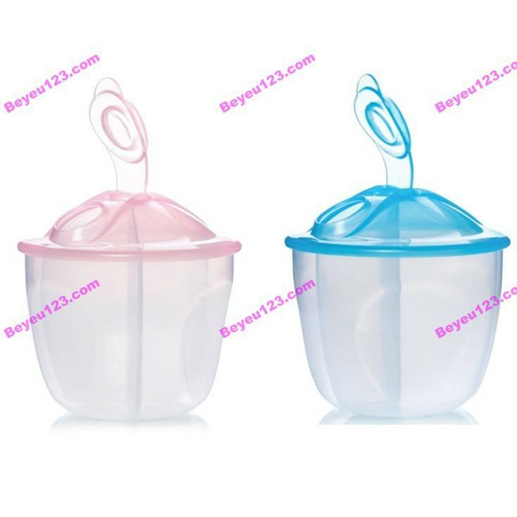 UPASS (Thái Lan) - Khoang chia sữa tròn 3 ngăn có nắp bật không BPA UPASS UP8012N