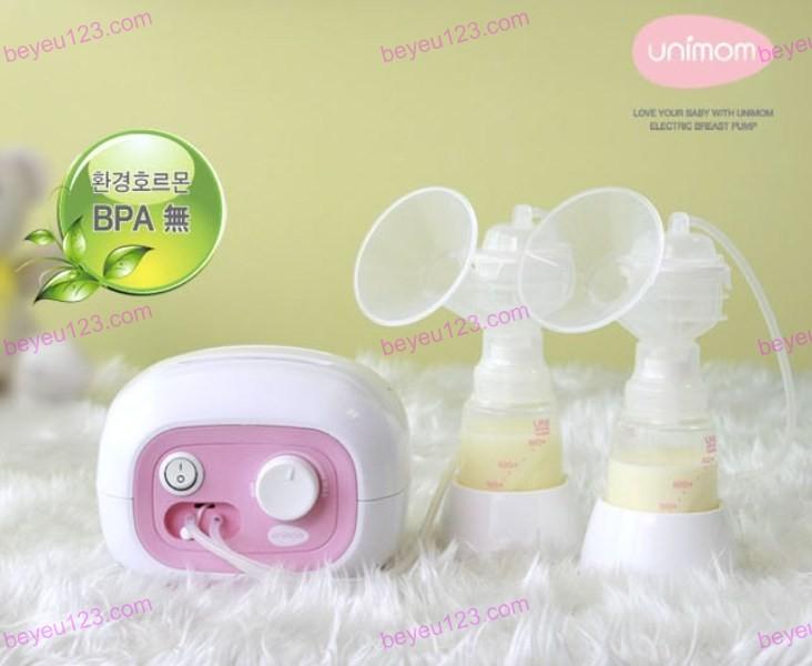 Máy hút sữa điện đôi cao cấp có mát xa silicone UNIMOM FORTE UM880113 (Hàn Quốc)