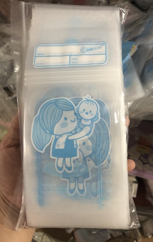 (Mẫu mới 2019) Hộp 50 túi trữ sữa mẹ không BPA 250ml SUNMUM