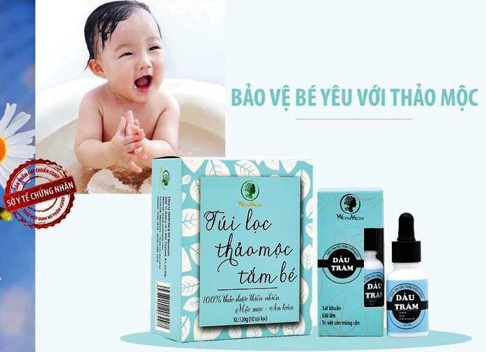 Combo Hộp 10 túi thảo mộc tắm bé và Dầu tràm nguyên chất Wonmom - Việt Nam
