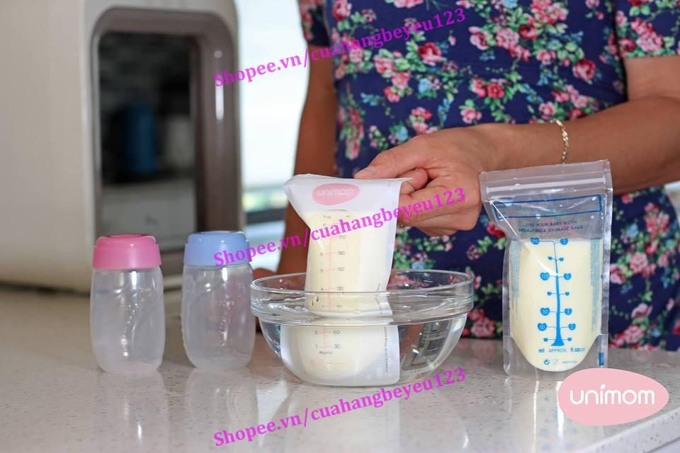 Hộp 50 túi trữ sữa mẹ cao cấp 250ml Unimom UM870510 - Hàn Quốc