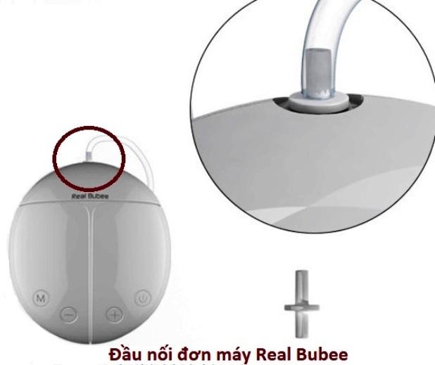 Đầu nối đơn phụ kiện hút sữa cho máy hút sữa điện Real Bubee