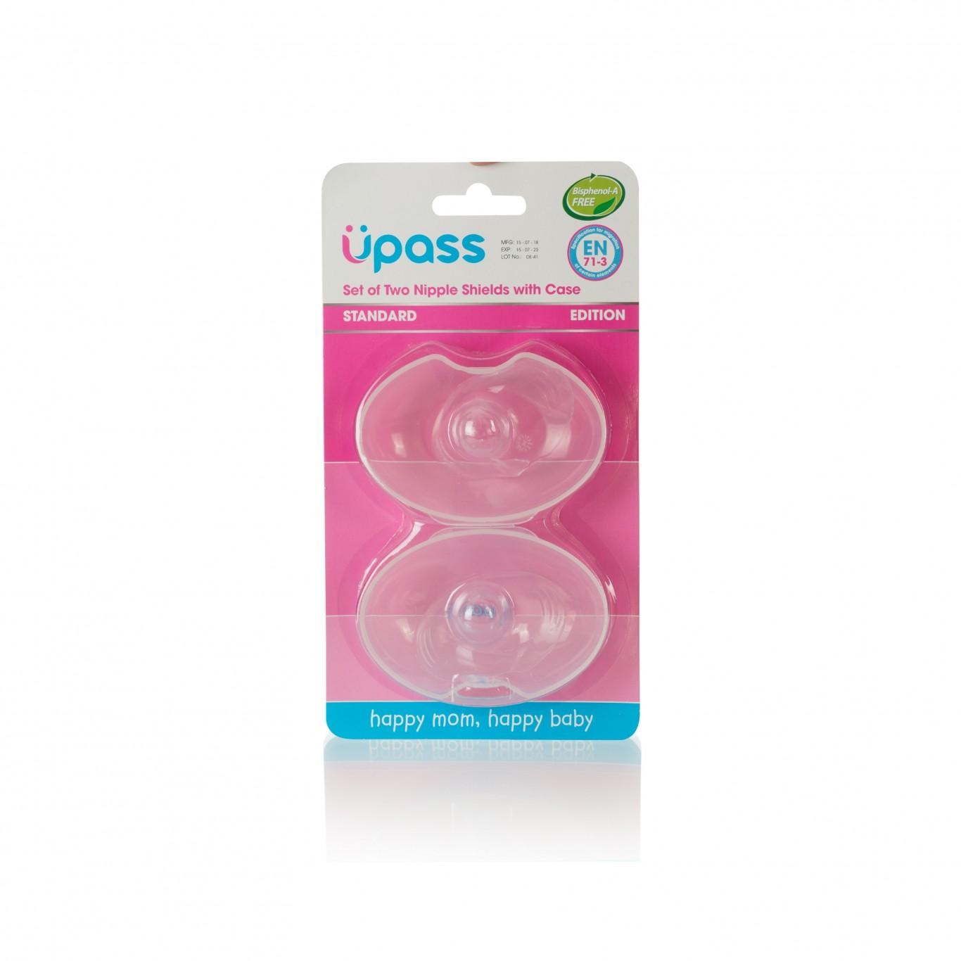 (Đầu ti tròn) Hộp 02 cái trợ ti ngực silicone mềm cho Mẹ hỗ trợ cho bé bú Upass Thái Lan - UP1001X