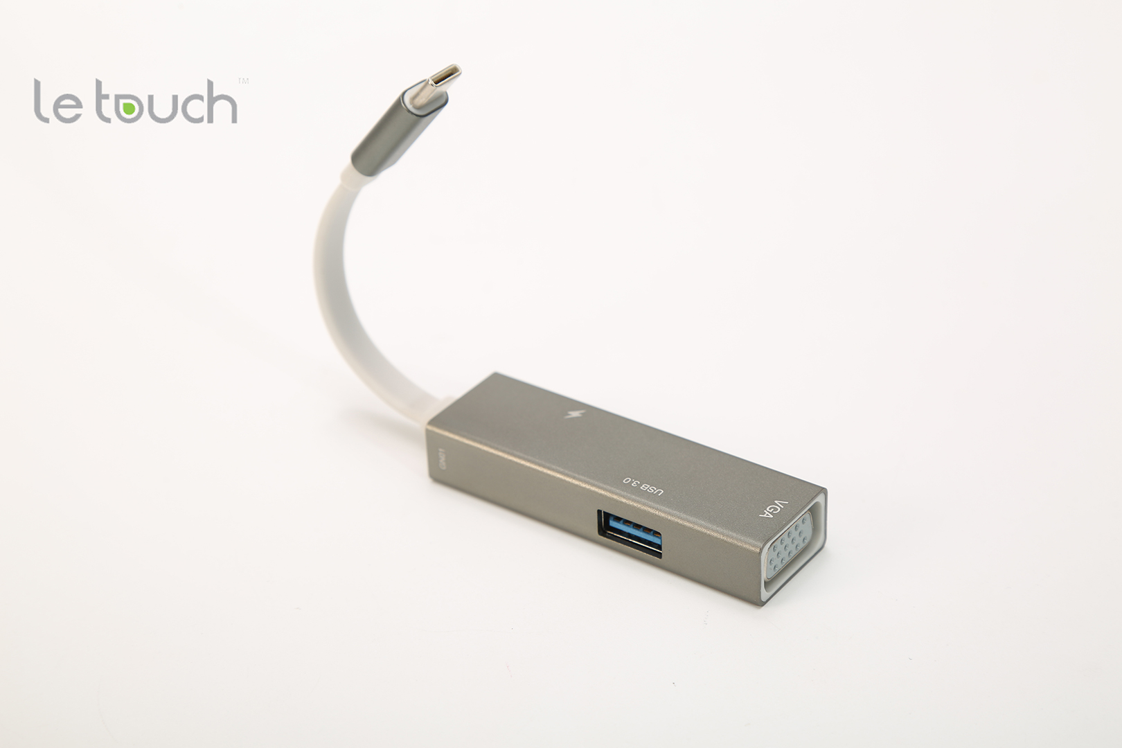 LE TOUCH USB 3.0 TYPE-C VGA HUB - GREY