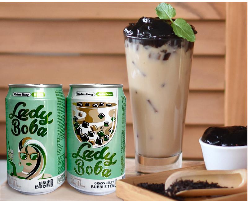 Trà sữa đóng lon Madam Hong - Made in Taiwan - Set 5 lon có trân châu - 8