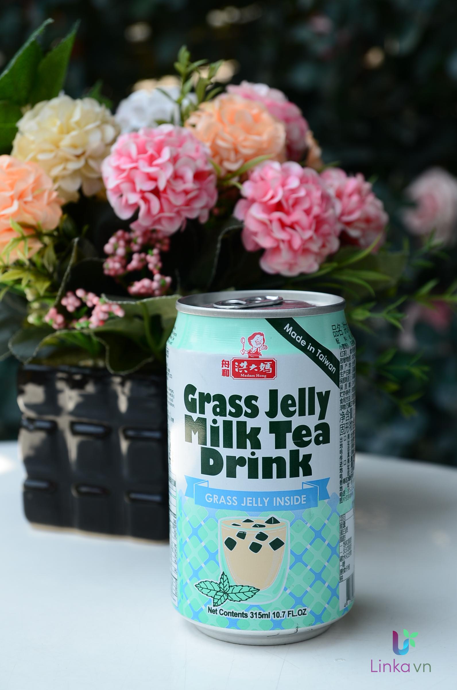 Trà sữa đóng lon Madam Hong - Made in Taiwan - Set 5 lon có trân châu - 7