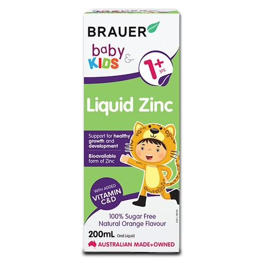 Brauer Liquid ZinC bổ sung Kẽm cho trẻ từ 1 tuổi