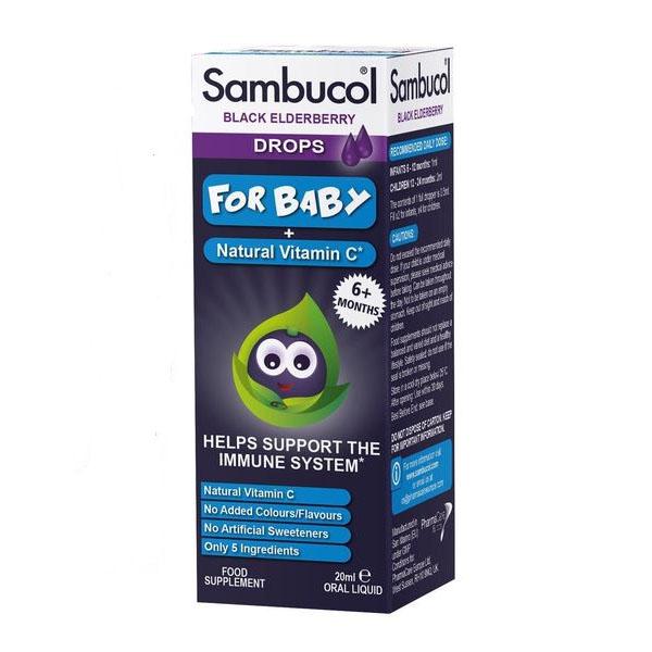 Tăng đề kháng Sambucol drops cho bé từ 6 tháng - 2 tuổi