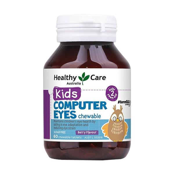 Viên nhai Healthy Care Kids Computer Eyes bổ mắt cho bé từ 1- 12 tuổi