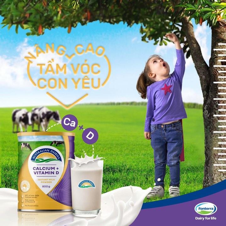 Sữa tươi dạng bột Australian Dairies tăng cường canxi